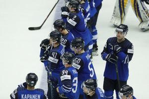 Smutní fínski hráči po skončení zápasu.