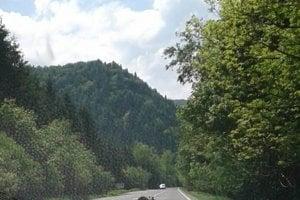 Fotografované na obed na hlavnej ceste z Ružomberka do Liptovskej Osady.