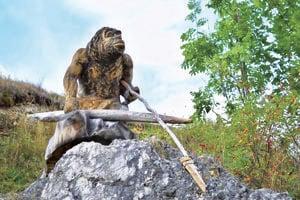 Maketa gánovského neandertálca.