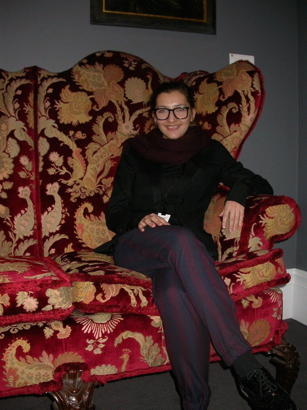 Štefánia Ďuricová na stáži v londýnskej Sotheby´s.