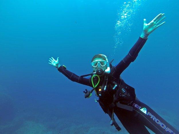 Potápanie je na Egejskej riviére veľmi obľúbené.
