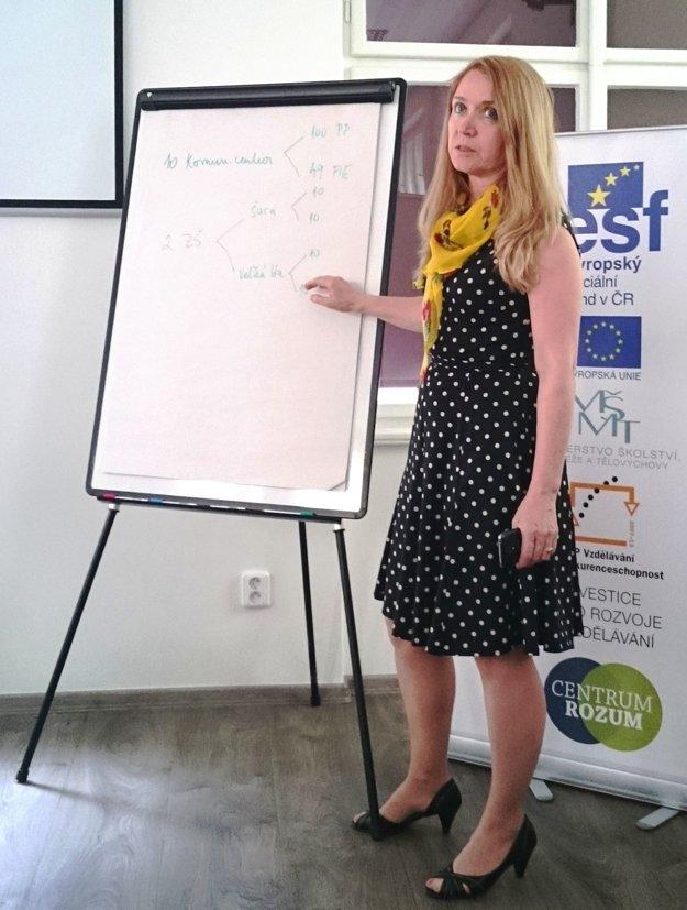 Pri prezentácii alternatívnej metódy vzdelávania podľa R. Feuersteina, Praha 2015.