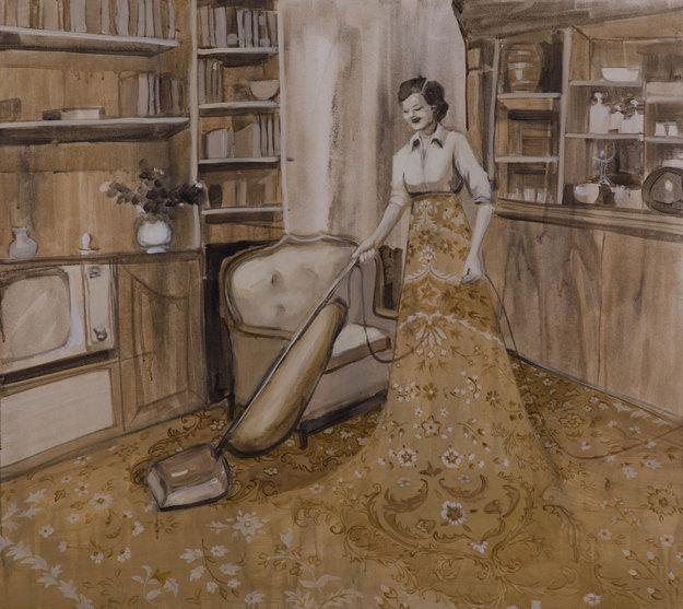 Houswife, 2013, akryl na plátne.