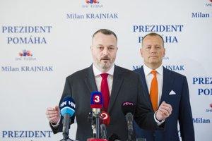 Milan Krajniak, poslanec a kandidát strany Sme rodina, známy pod prezývkou Posledný križiak, stranícky kandidát.
