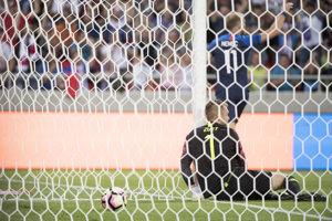 Slovenský futbalista Adam Nemec sa raduje zo svojho gólu.