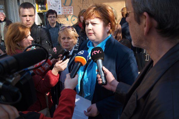 Predsedníčka Odborového zväzu sestier a pôrodných asistentiek Monika Kavecká.