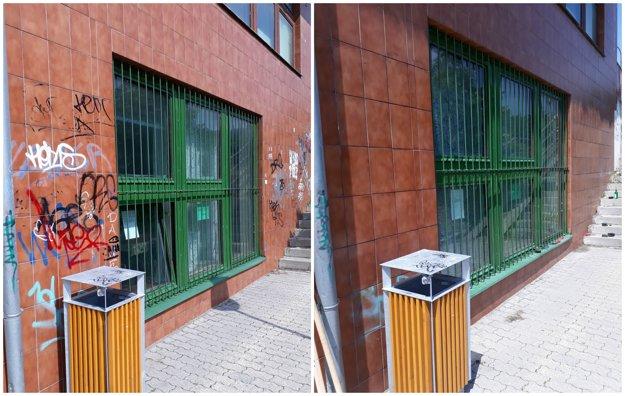 12:35Z fasády denného centra na Pribišovej 8 v Karlovej Vsi zmizli neestetické graffiti.