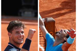 Podarí sa Dominicovi Thiemovi (vľavo) zastaviť Rafaela Nadala?