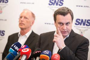 Andrej Danko a Jaroslav Paška z SNS.
