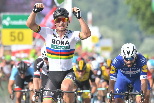 O svojom víťazstve rozhodol Peter Sagan na posledných metroch trate.