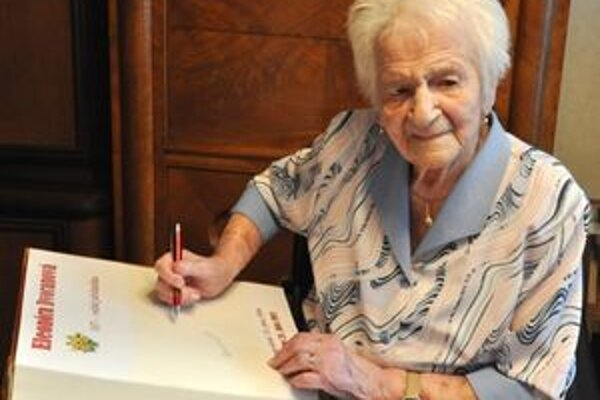 Najstaršia Žilinčanka, pani Eleonóra Dvoranová.