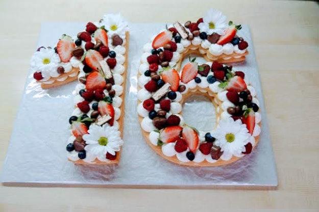 Torta v tvare čísla