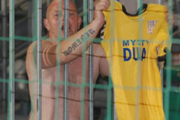 Do Žiliny prišli fanúškovia DAC Dunajská Streda s veľkým krikom a bolo ich počuť počas celého zápasu.
