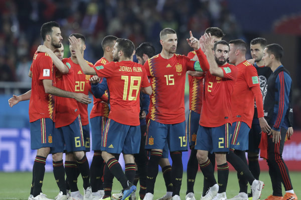 Španielski futbalisti.