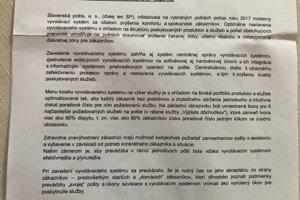 Takáto odpoveď prišla zo Slovenskej pošty S. Thomkovi.