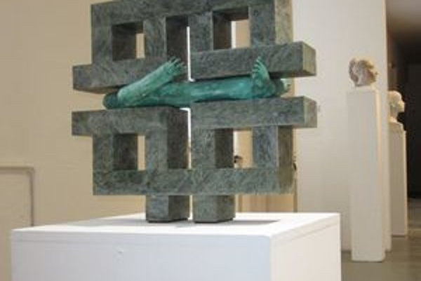 Jedno z diel Jána Mathého, ktoré môže vidieť na aktuálnej výstave v Považskej galérii umenia v Žiline.