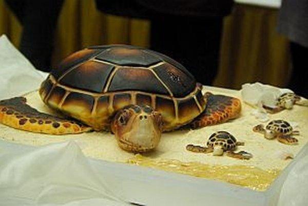 Divákom sa najviac páčila na celoslovenskej súťaži táto torta. Získala aj prvé miesto v kategórii netradičných výrobkov.