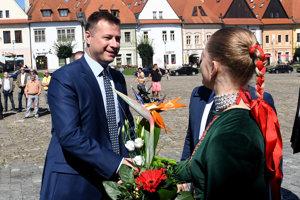 Poslanec NR SR a minister spravodlivosti Gábor Gál počas príchodu na výjazdové rokovanie 114. schôdze vlády SR v Bardejove.