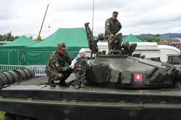 Deťom sa najivac páčil tank.