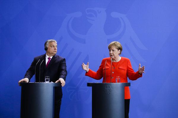 Merkelová rokovala s Orbánom.