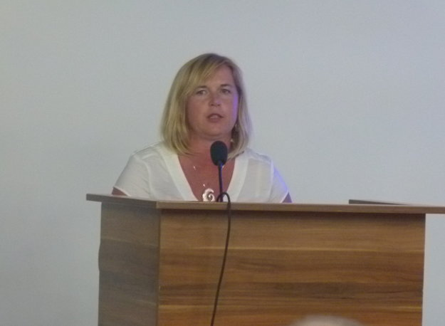Slovo dostala aj Denisa Plesnivá, zástupkyňa ženského futbalu, ktorá predniesla smelé plány.