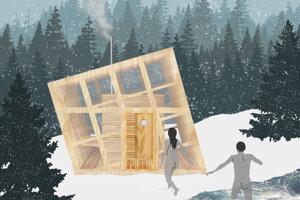 Lesná sauna v prírodnom prostredí