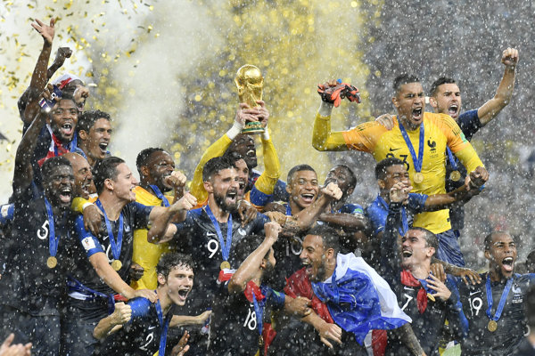 Francúzi oslavujú titul majstra sveta.