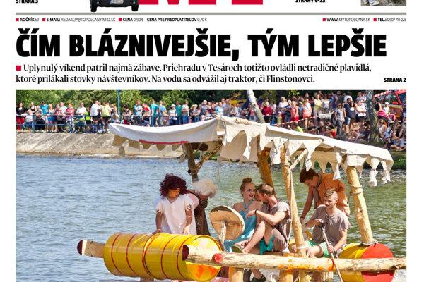 34516740d Vyšlo ďalšie číslo MY Topoľčianskych novín Dnešok. - SME | MY Topoľčany