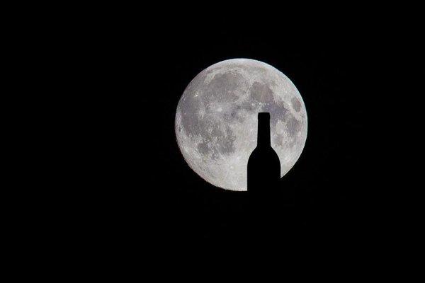 Zatmenie mesiaca vo vinohradoch.