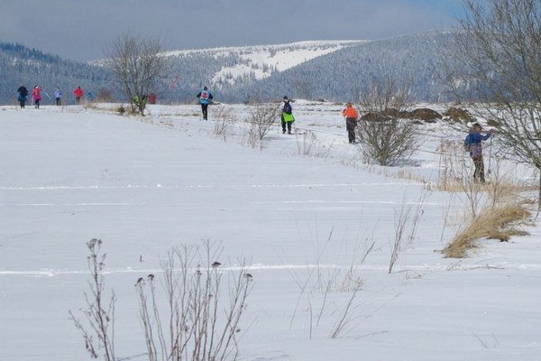 Veselovskými rovňami sa vydalo takmer 200 bežkárov.
