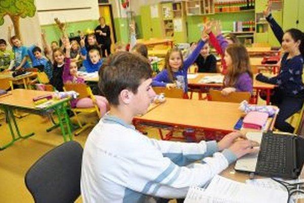 Filip Povala zvládol úlohu učiteľa výborne.