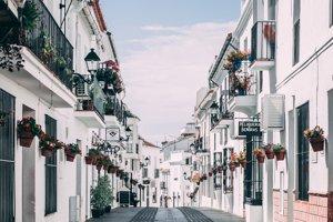 Ulice španielskych miest v Andalúzii