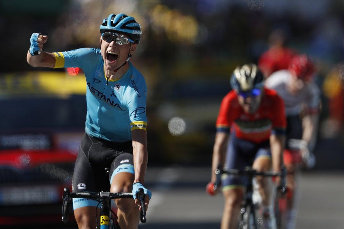 ecbc65ea83a57 Magnus Cort Nielsen sa teší z víťazstva v 15. etape Tour de France 2018.
