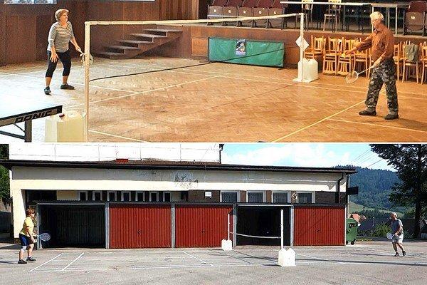 Vďaka čiaram a sieti môžu Sedliackodubovčania hrať bedminton a tenis pod holým nebom aj pod strechou.