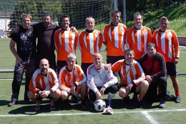 Výber martinskej ligy mestského futbalu.