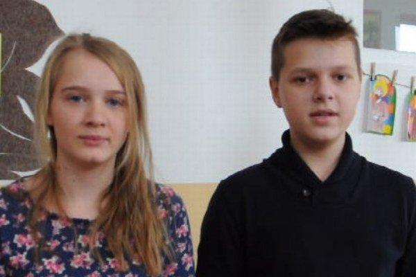 Barbora Bjeláková a Anton Kutlák, CZŠ Sihelné.