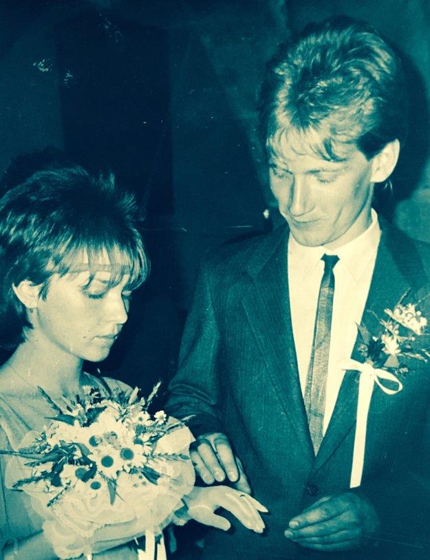 David so svojou prvou manželkou Alenkou na Zvolenskom zámku