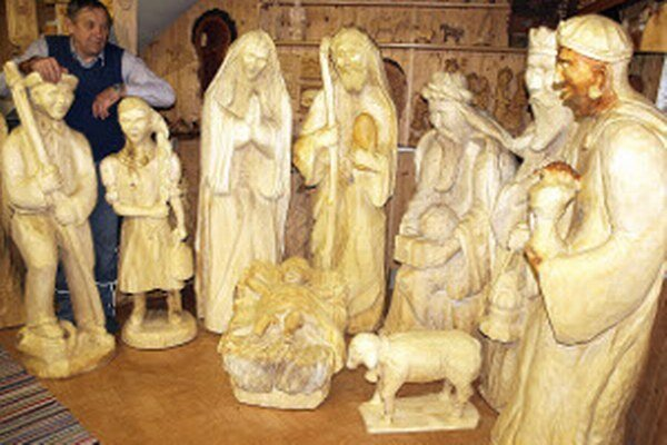 Výroba betlehema trvala viac ako pol roka.