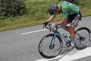 Peter Sagan počas 19. etapy na Tour de France 2018.