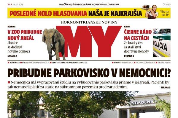 V predaji je nové číslo MY Hornonitrianskych novín.