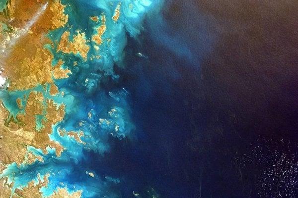 Časť severozápadného pobrežia Austrálie.