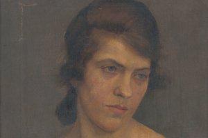 Ladislav Treskoň, Portrét ženy, 1922.