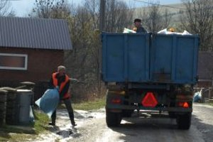 Zber vytriedeného odpadu.