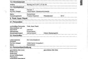 Formulár vyplený kvôli unesenej osobe.