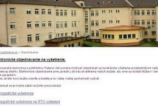 Objednať na dve špeciálne vyšetrenia sa dá cez webovú stránku nemocnice.