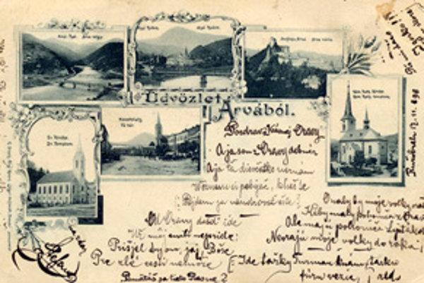 1898. Pozdrav z krásnej Oravy.