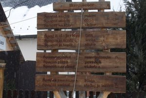 Zuberecký barometer presne ukazoval štvrtkové počasie - mrzol a triasol sa, čo potvrdzovalo počasie vonku - mrzlo a fúkalo.