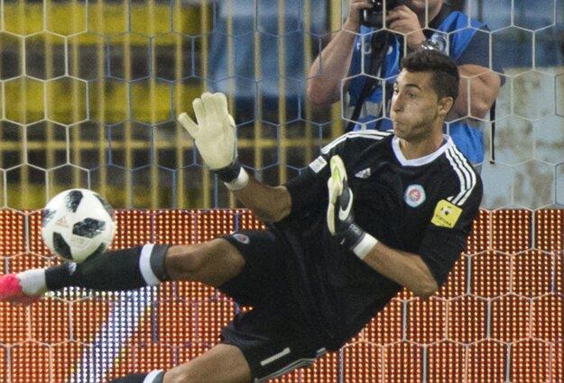 Brankár Slovana Dominik Greif.