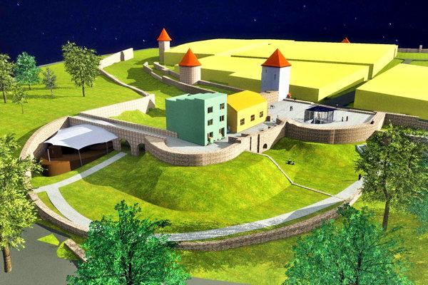 Južná časť hradieb by vo finále mala vyzerať takto