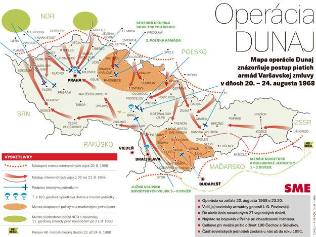 Mapa Operácie Dunaj.